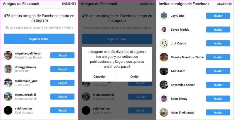 instagram iniciar sesión con facebook