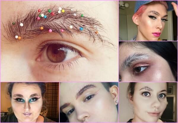maquillaje en las cejas