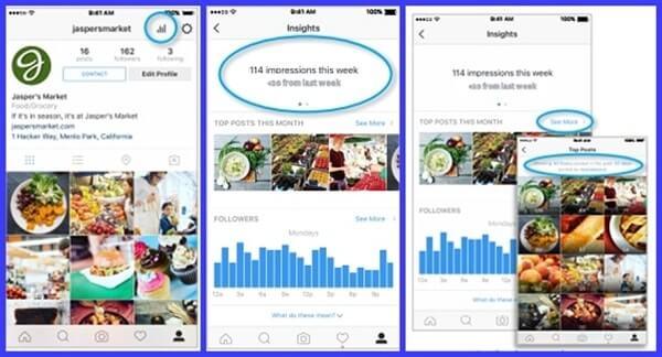 Estadísticas en Instagram para Empresas