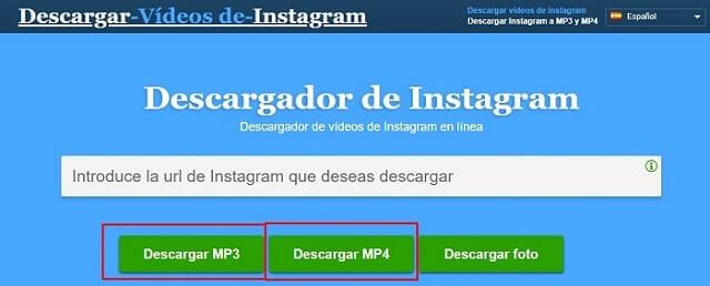 como descargar videos de instagram desde pc