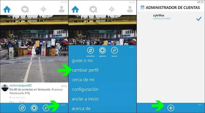 administrador de cuentas con windows phone
