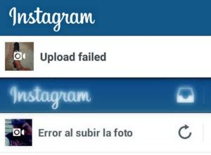 erreur lors du téléchargement d'une photo sur instagram