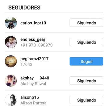 lista seguidores