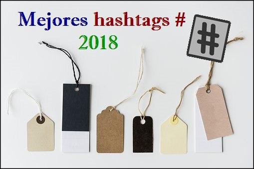 mejores hashtags 2018