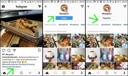 como seguir hashtags en instagram