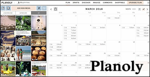 Planoly ตั้งโปรแกรมโพสต์ของคุณบน Instagram