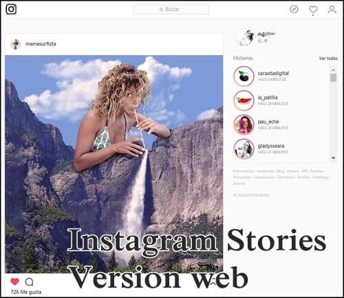 Asi lucen las nuevas stories version web