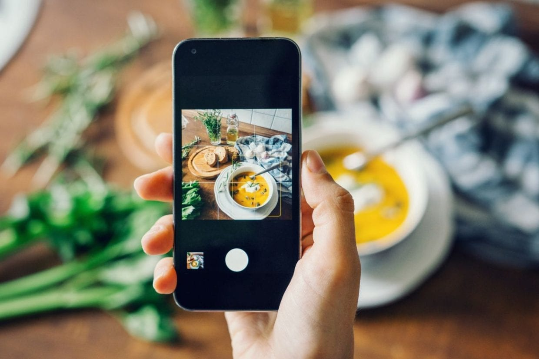instagram en la industria alimentaria