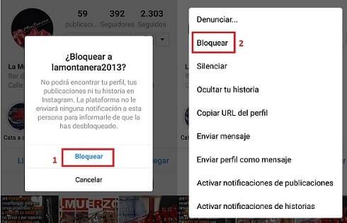 bloquear perfil instagram