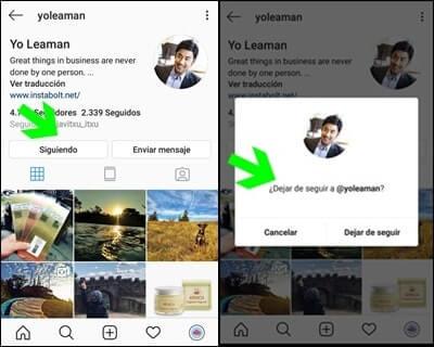 التوقف عن متابعة أتباع الأشباح Instagram