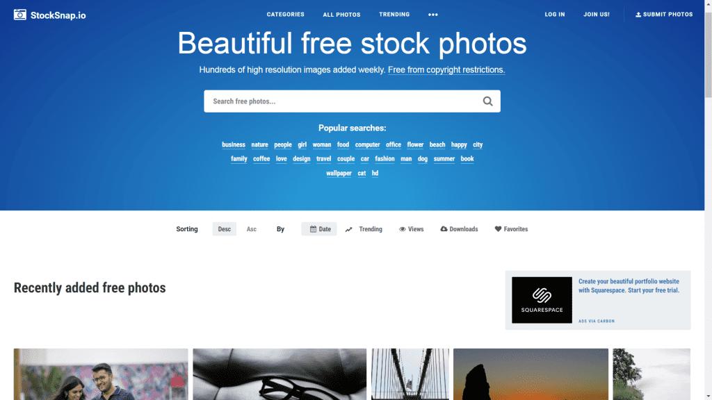 stocksnap banco de imagenes