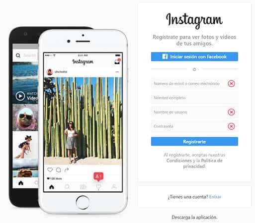 Cómo abrir una cuenta en Instagram por primera vez